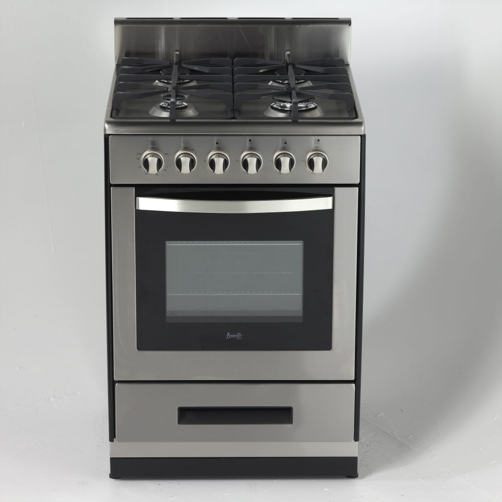 Avanti Dg2450ss1 24 Inch Freestanding Gas Range With 4
