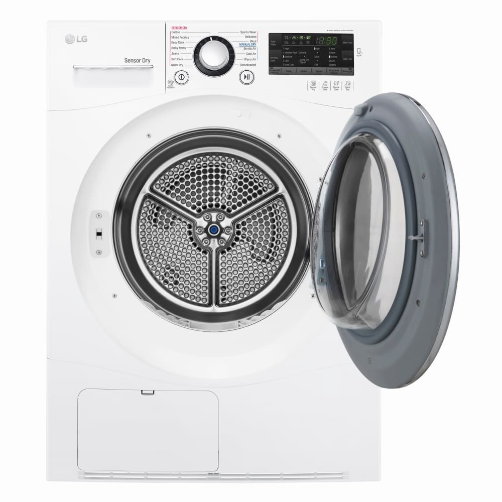 Lg Dlec888w 24 Inch Smart Ventless Condensing Dryer With