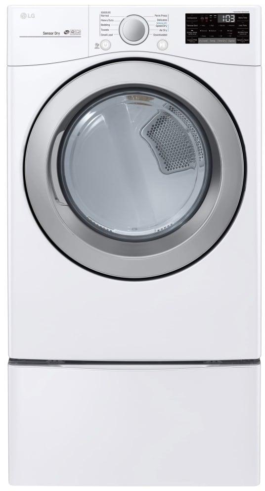 Lg 350q1k A5 Neon R Fblack: LG DLG3501W 27 Inch 7.4 Cu. Ft. Gas Dryer With Sensor Dry