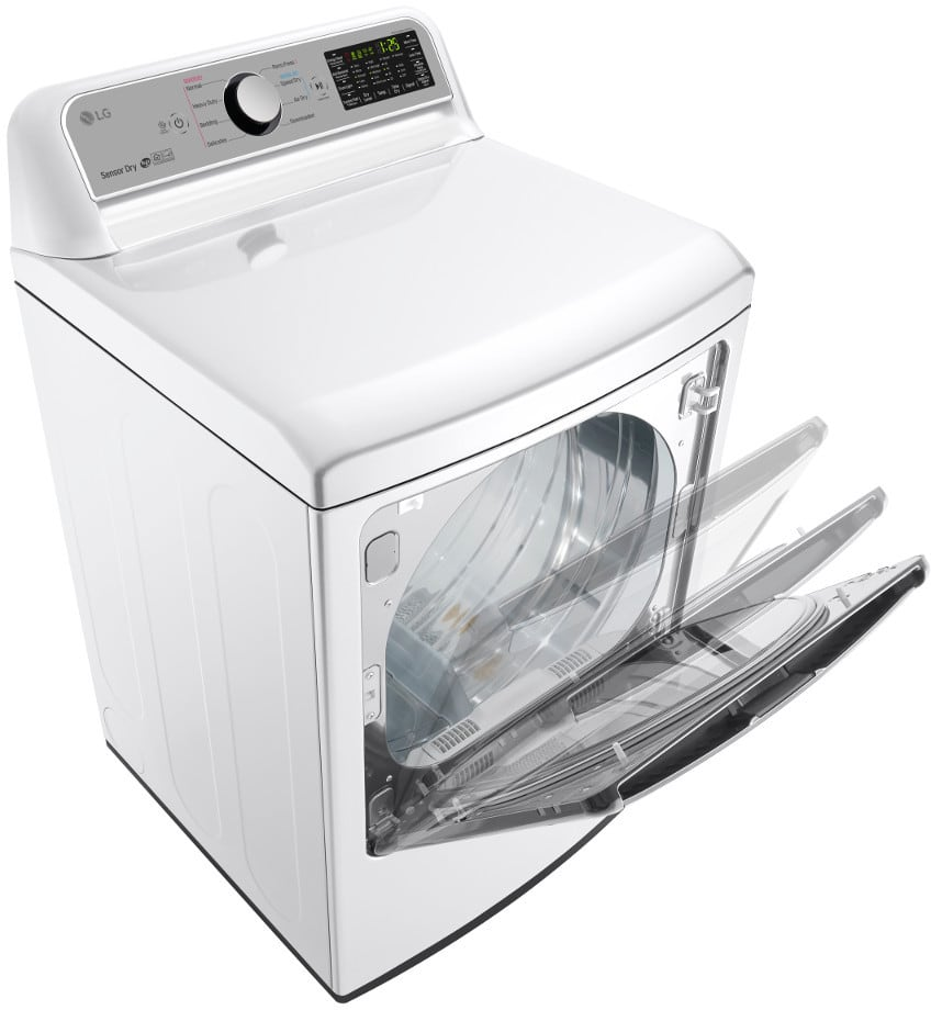 Large Lg Dryer ~ Lg dlg we inch gas dryer with easyload™ door wi fi