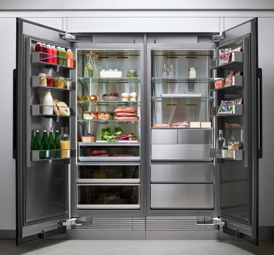 ... Dacor Modernist DRZ18980RAP   Shown With Matching Refrigerator Column  (Graphite Steel Panel And Handle Purchased