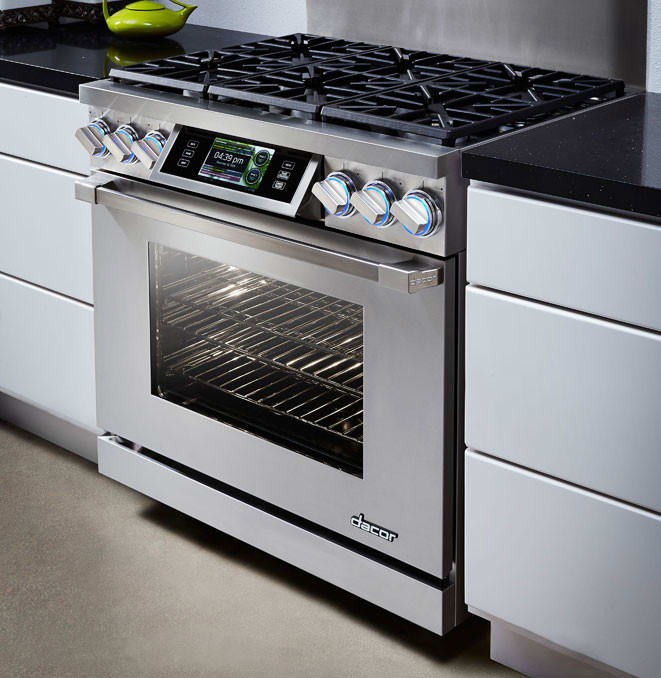 Gas Range Oven Part - 34: Dacor DYRP36D 36 Inch Slide-in Dual-Fuel Range Oven With 5.2 Cu. Ft. Oven,  3,500 W Broil Element, 6 Sealed Burners, 18,000 BTU Burner Output, IQ  Controller ...