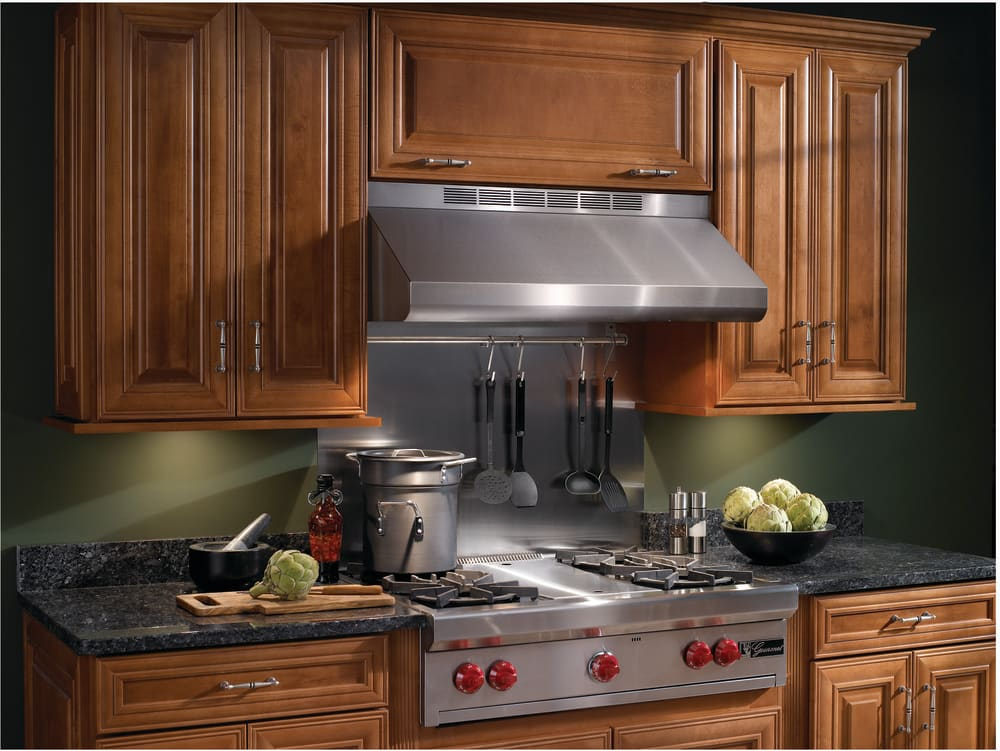 broan e6430ss pro-style under-cabinet canopy range hood with
