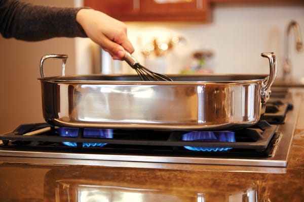 All Clad E751s264 Large Nonstick Roasting Pan With