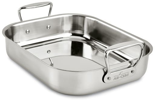 All Clad E752s264 Small Roasting Pan With Roasting Rack