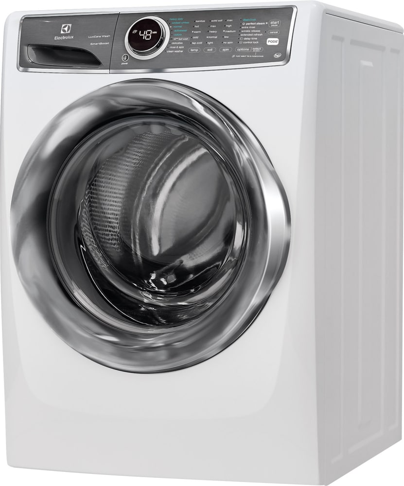 electrolux laundry laundry room electrolux efls627uiw side view 27 inch front load washer with luxcare wash