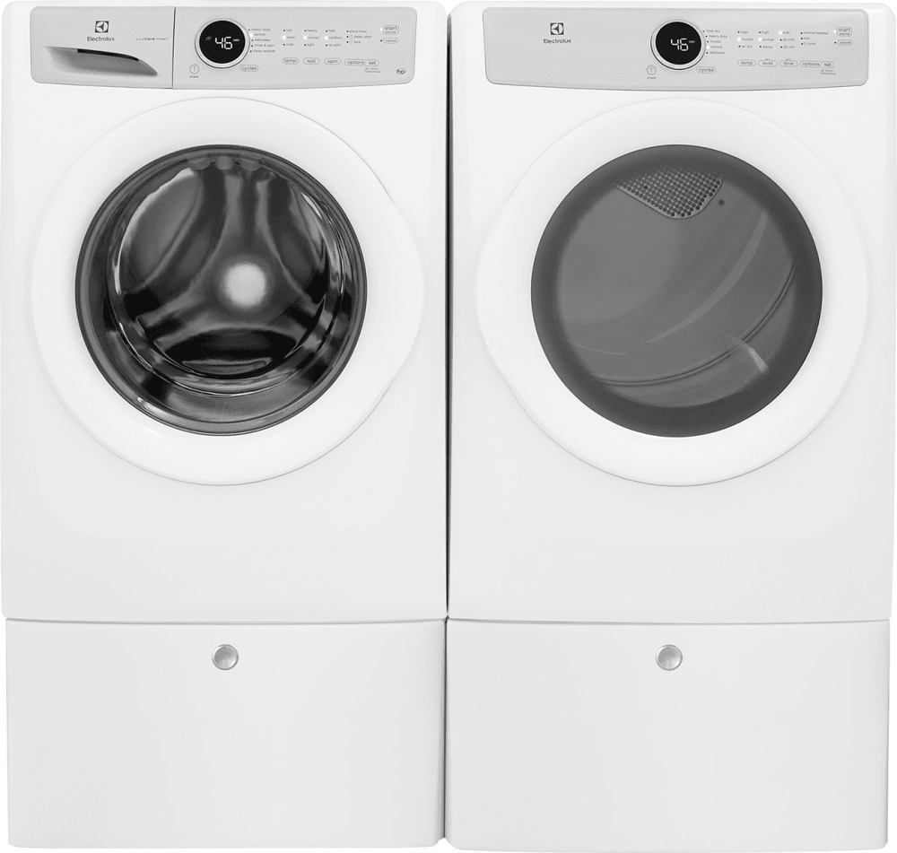 Electrolux Exwadreiw3172 Side By Side On Pedestals Washer