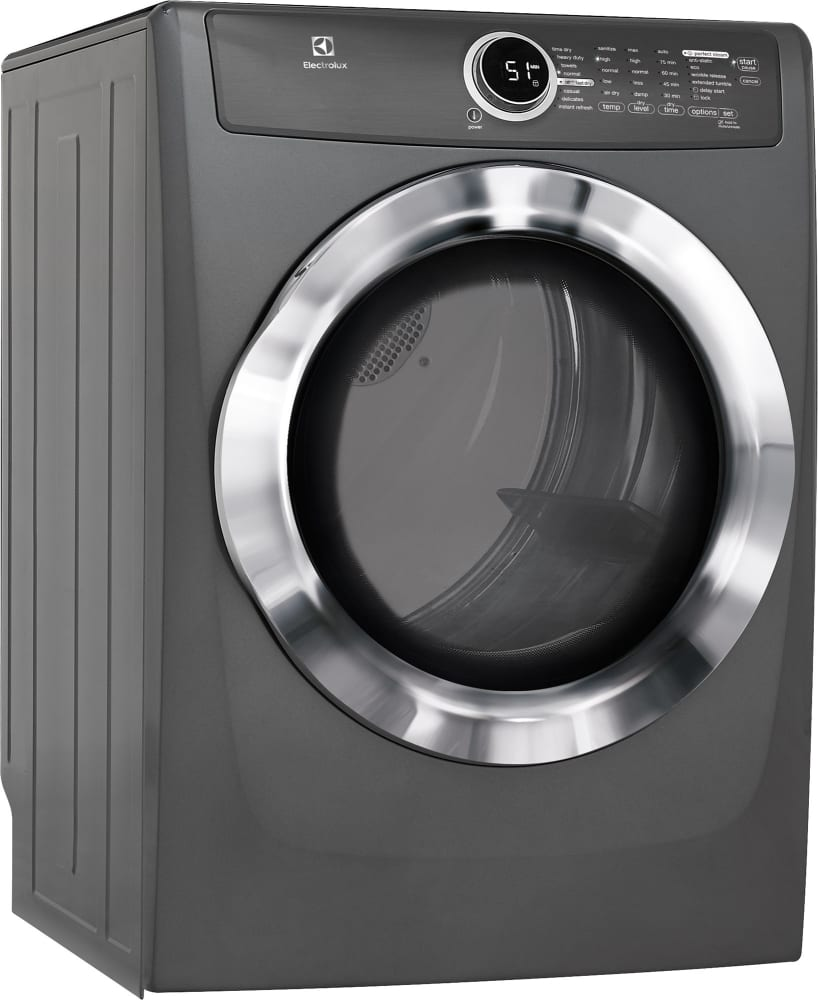 Electrolux Efme617stt 27 Inch 8 0 Cu  Ft  Electric Dryer With Moisture Sensor  Perfect Steam