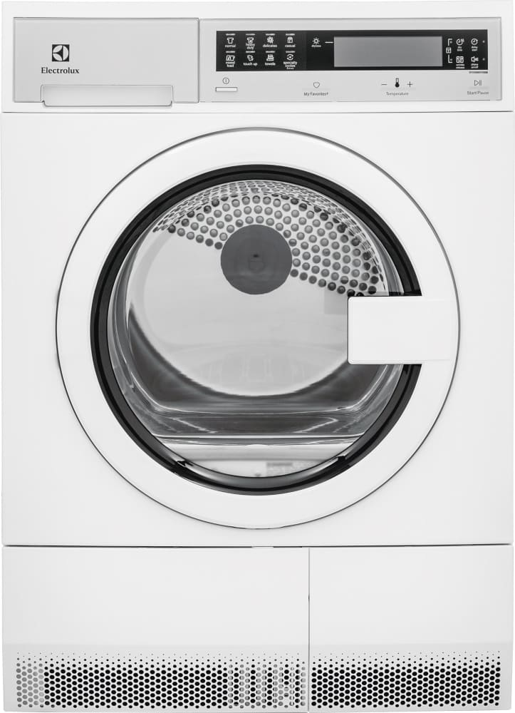 Electrolux Eied200qsw 24 Inch Ventless Electric Dryer With Wrinkle Release Reduced Tangling Fast Dry Cycle Closet And Undercounter Capable Stackable Design 11 Total Cycles Gentle Dry Delay Start Iq Touch Controls Reversible Door