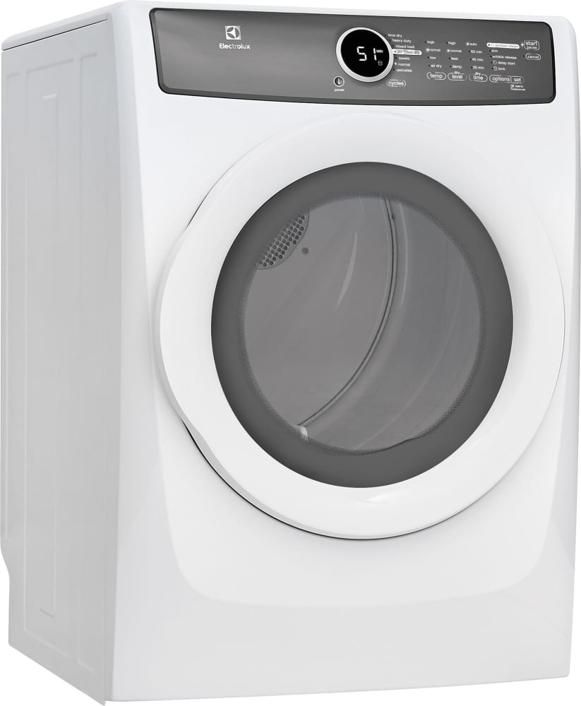 Electrolux EFMG617SIW 27 Inch 8.0 cu. ft. Gas Dryer with Moisture ...