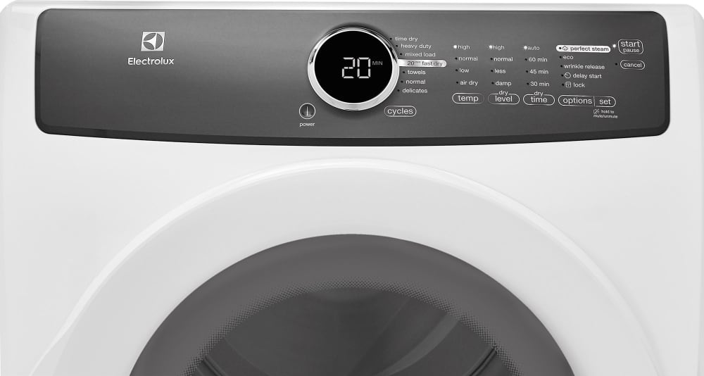 Electrolux EFMG417SIW 27 Inch 8.0 cu. ft. Gas Dryer with Moisture ...