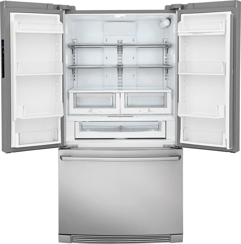 electrolux ei23bc82ss 36 inch counter depth french door electrolux iq touch series ei23bc82ss fresh food section