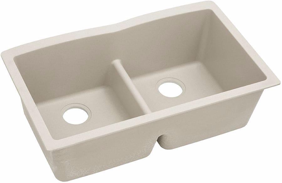 Elkay Elgdulb3322bq0 33 Inch Double Bowl Undermount Kitchen Sink