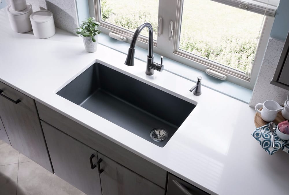 Elkay Elgu13322gy0 33 Inch Undermount Sink With E Granite