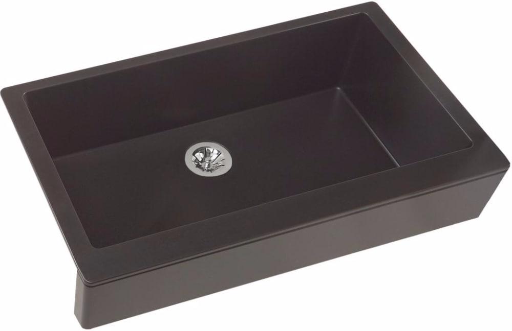 quartz kitchen sinks integrated elkay quartz luxe elxufp3620ca0 caviar front view 36 inch farmhouse kitchen sink with