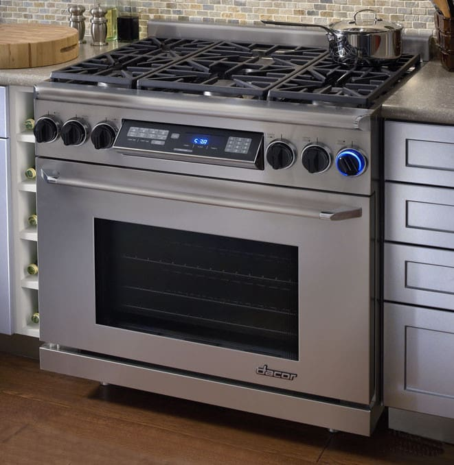 Dacor Er36dschng 36 Inch Freestanding Dual Fuel Range With