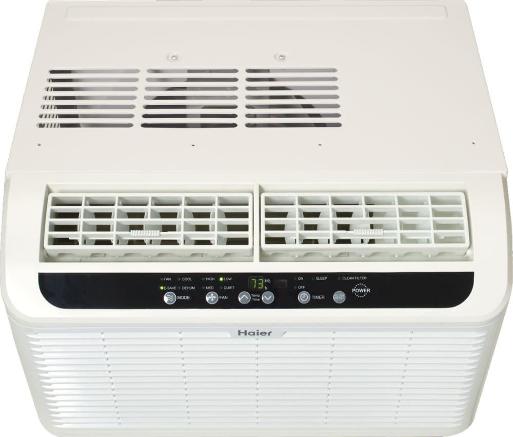 haier window air conditioner. window kit haier serenity series esaq408p - top view air conditioner