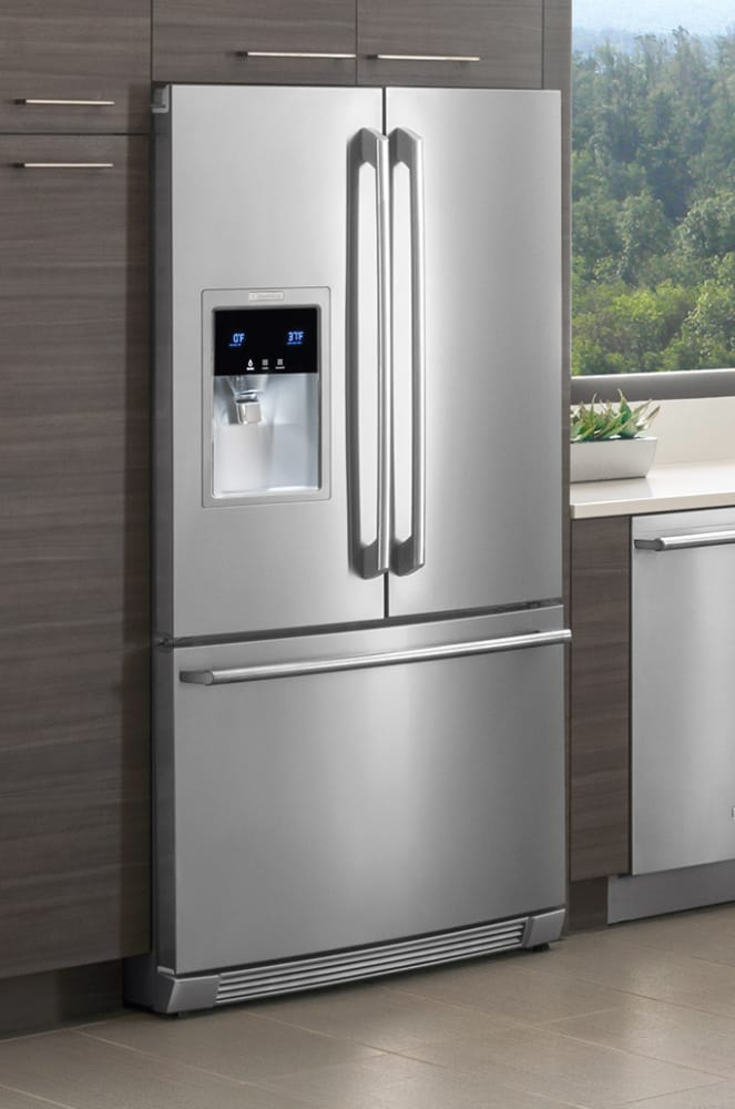 electrolux fridge. electrolux wave-touch series ew23bc87ss - a counter-depth design gives this refrigerator fridge r