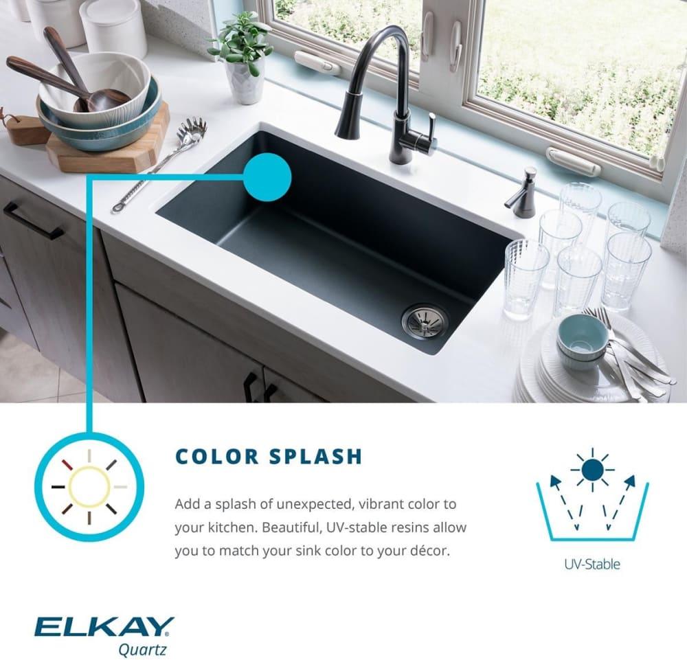 quartz kitchen sinks square elkay quartz classic elgdulb3322wh0 color feature 33 inch double bowl undermount kitchen sink
