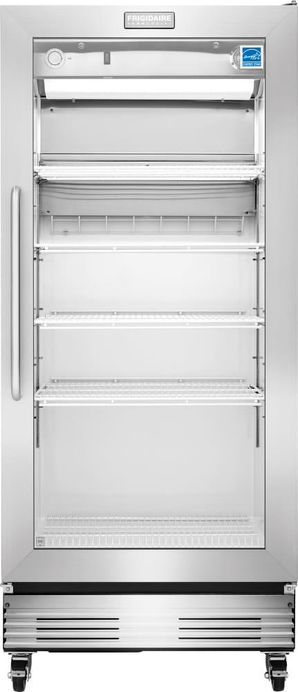 Frigidaire fcgm181rqb 32 inch food service grade for 18 inch interior glass door