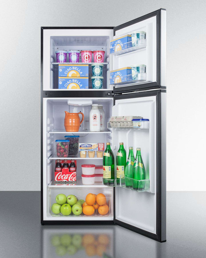 refrigerator racks. summit ff1376ss - adjustable glass shelves, produce cripser, freezer and fridge door bin storage refrigerator racks t