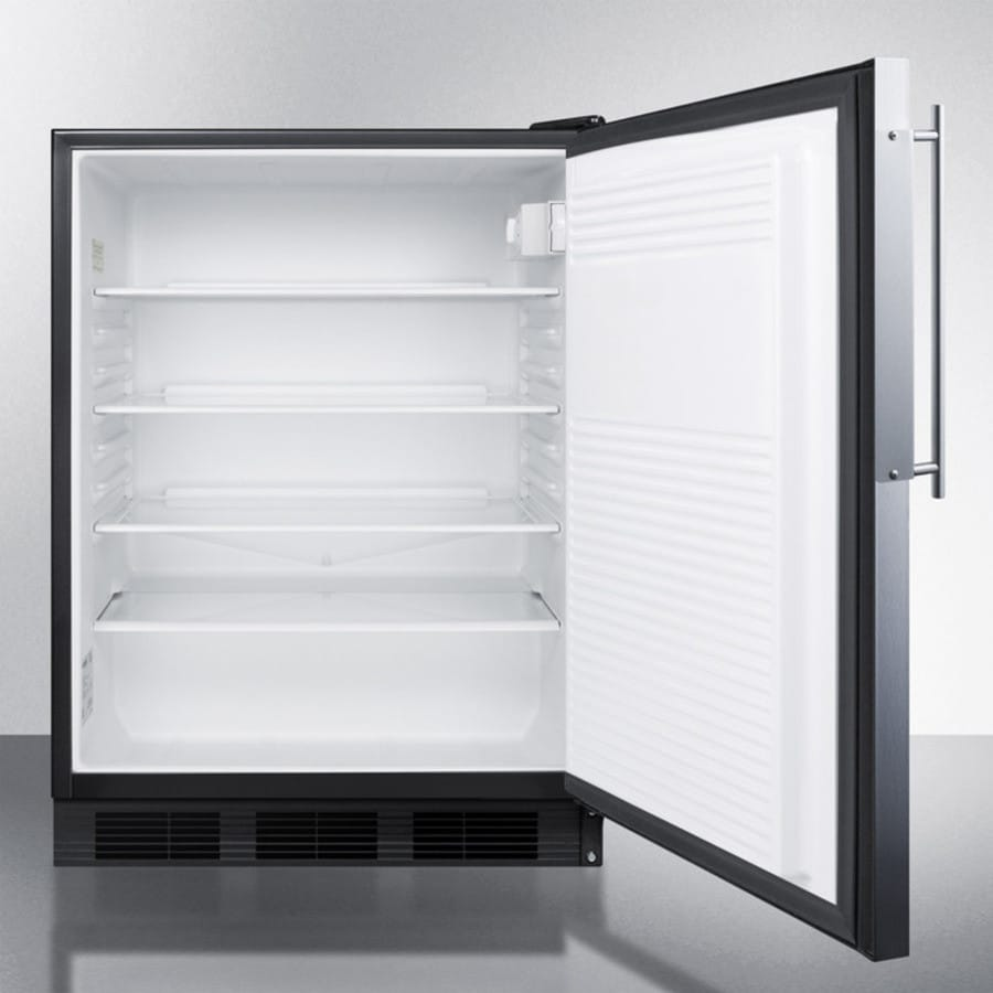Accucold ff7bbifr 24 inch built in compact refrigerator with adjustable glass shelves deep - Tall refrigerators small spaces property ...