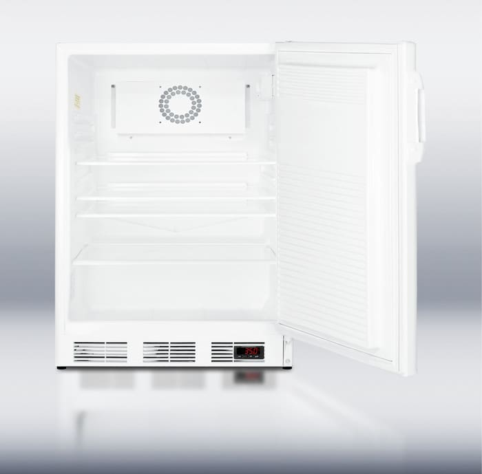 Summit ff7lbimeddtada 24 inch compact refrigerator with 5 5 cu ft capacity adjustable glass - Tall refrigerators small spaces property ...