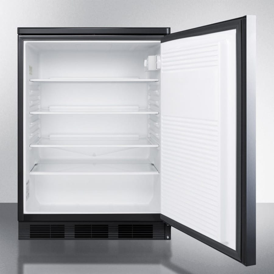 accucold ff7lblbisshh 24 inch built in compact refrigerator with adjustable glass shelves deep. Black Bedroom Furniture Sets. Home Design Ideas
