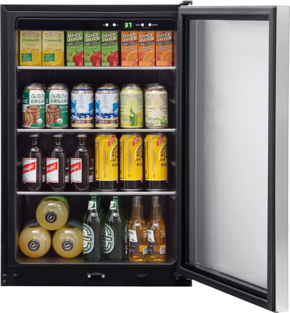 frigidaire ffbc4622qs 46 cu ft beverage center with 3 adjustable glass shelves 138 12 oz can capacity popout key lock tinted glass - Beverage Center