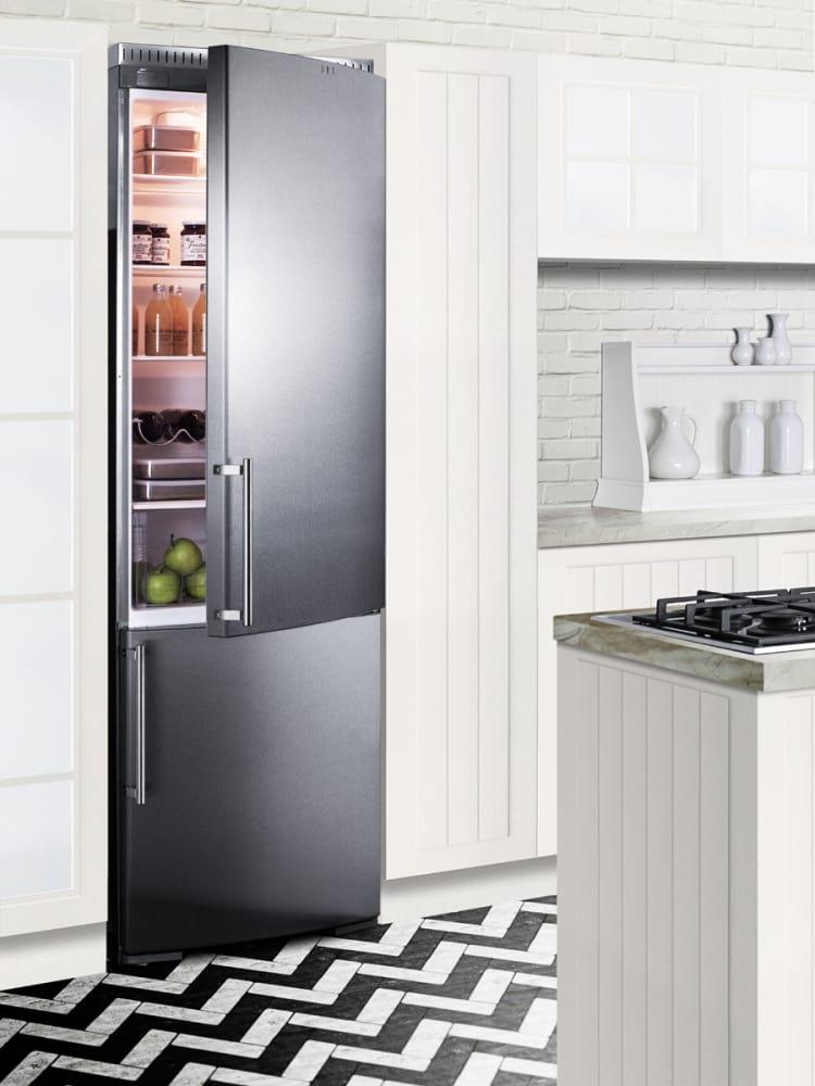 Summit Ffbf181ssbi 24 Inch Bottom Freezer Refrigerator