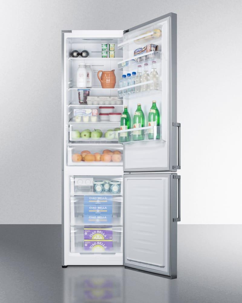 Summit FFBF191SS 24 Inch Counter Depth Bottom-Freezer Refrigerator ...