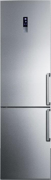... Summit FFBF191SSX   24 Inch Energy Star Bottom Freezer Refrigerator  With 13.3 Cu. Ft ...