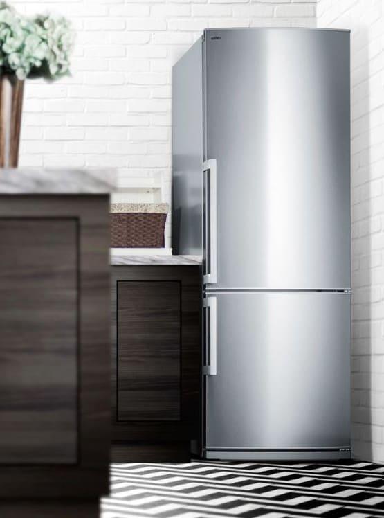 Summit FFBF285SSX 28 Inch Counter Depth Bottom-Freezer Refrigerator ...
