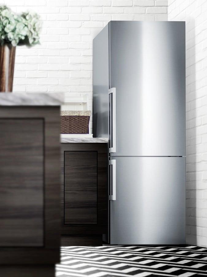 Summit FFBF287SSIM 28 Inch Bottom Freezer Refrigerator with 16.8 cu ...