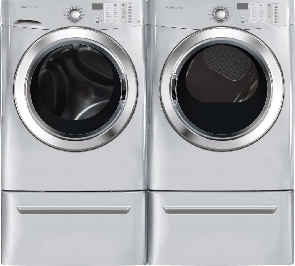 frigidaire fffs5115pa laundry pair shown with pedestals sold separately