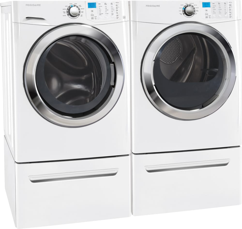 ... Frigidaire FFFS5115PW - Laundry Pair, Shown with Pedestals (Sold  Separately) ...