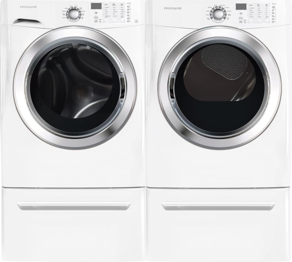 Frigidaire Fffs5115pw 27 Inch Front Load Washer With Ready Steam Wiring Diagram For Oven Laundry Pair Shown Pedestals Sold Separately