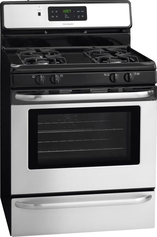 frigidaire ffgf3024rs 30 inch freestanding gas range with even bake oven storage drawer self. Black Bedroom Furniture Sets. Home Design Ideas