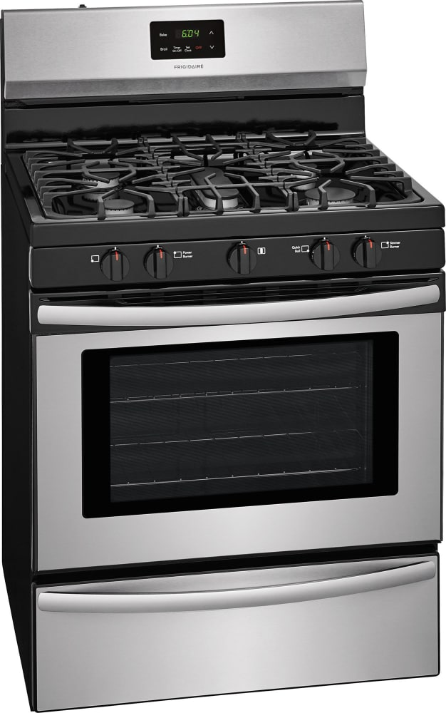 exciting cook stoves at lowes. Frigidaire FFGF3052TS  Front View Side 30 Inch Freestanding Gas Range with Simmer