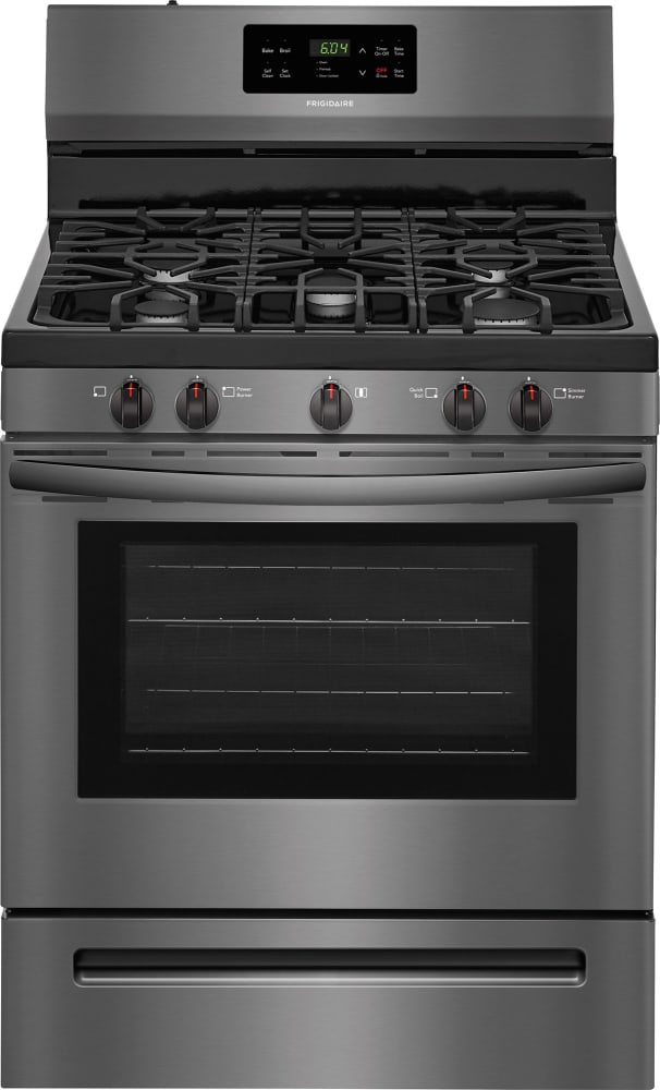 Frigidaire Ffgf3054td Black Stainless Steel Front View