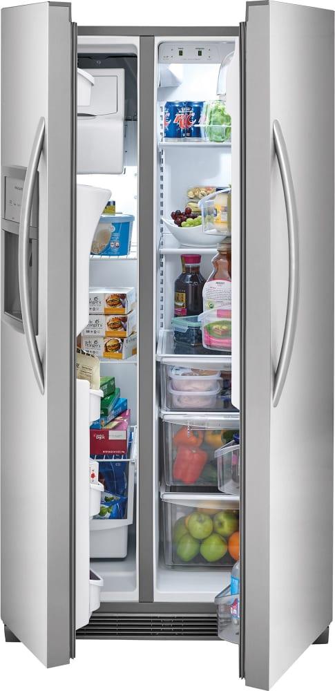 Frigidaire Ffhx2325ts 33 Inch Side By Side Refrigerator