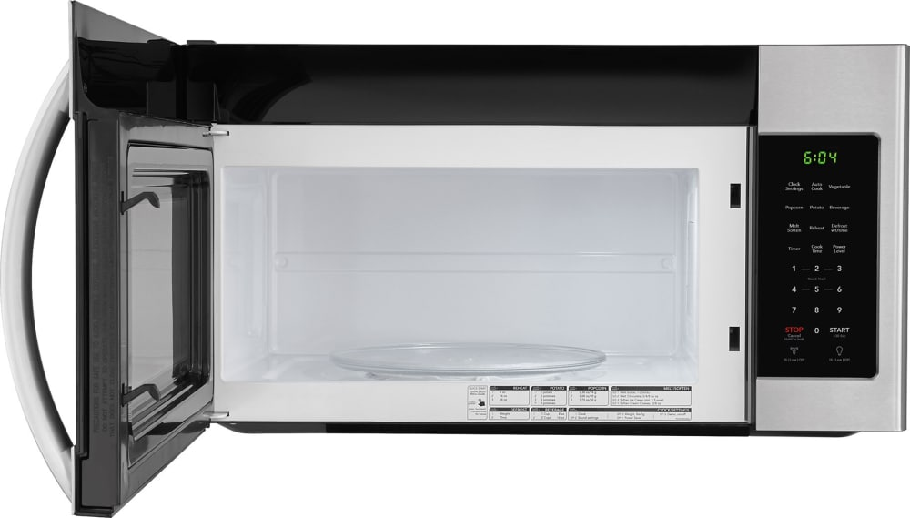 Frigidaire Ffmv1745ts 30 Inch Over The Range Microwave With One Touch Controls Multi Stage