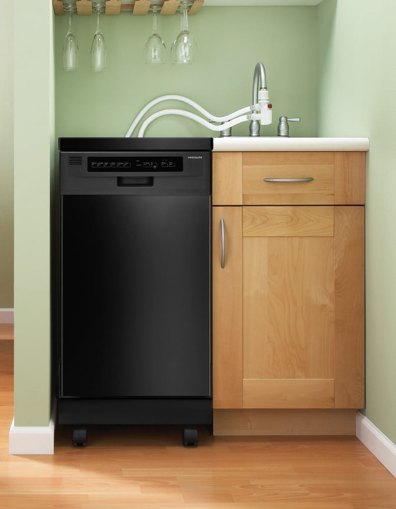 Portable Dishwasher Enclosures : Frigidaire ffpd mb inch portable dishwasher with