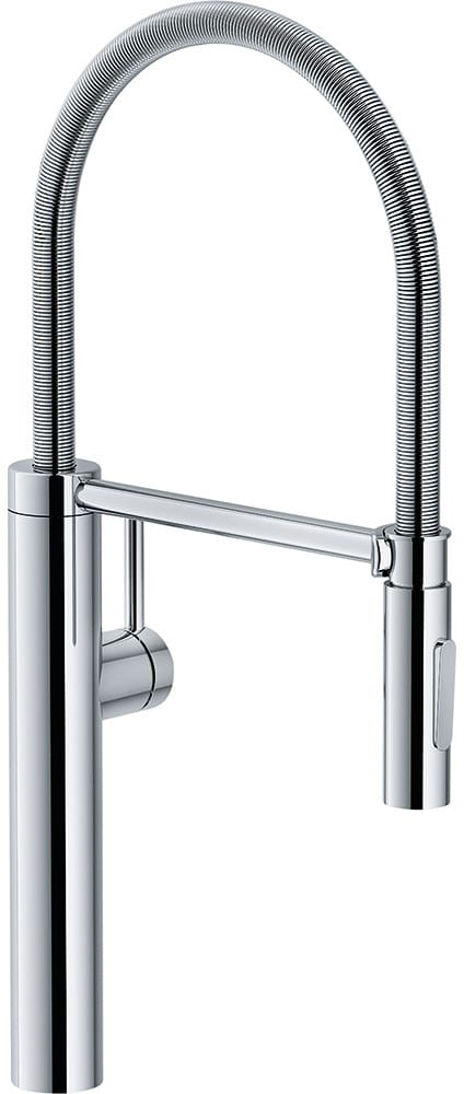 Franke Ffpd4300 Single Handle Polished Chrome Pulldown Kitchen Faucet With Dual Spray Function