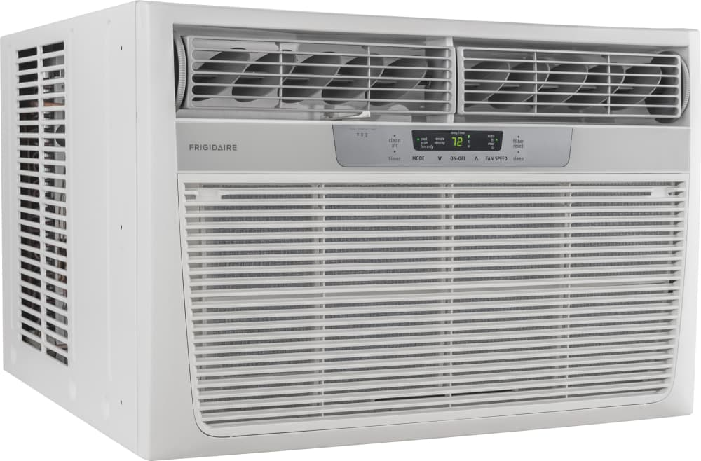 frigidaire ffra2822r2 btu room air conditioner frigidaire ffra2822r2 angle view