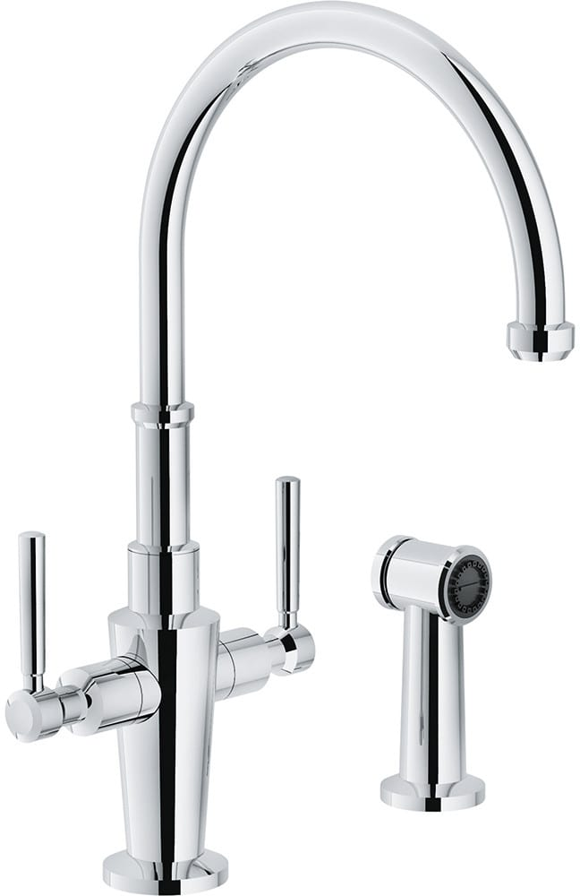 Hole C Spout Kitchen Faucet With Sidespray