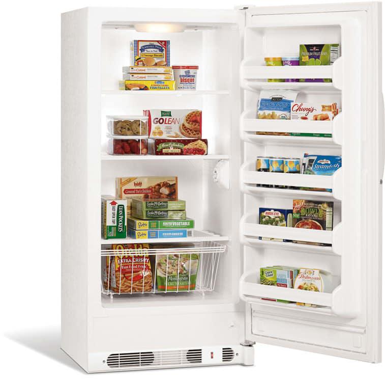 Frigidaire FFU14M5HW 14.1 cu. ft. Upright Freezer with 3 Full-Width ...