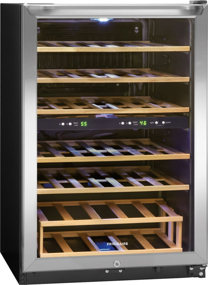 frigidaire ffwc3822qs angle view wine fridge lowes