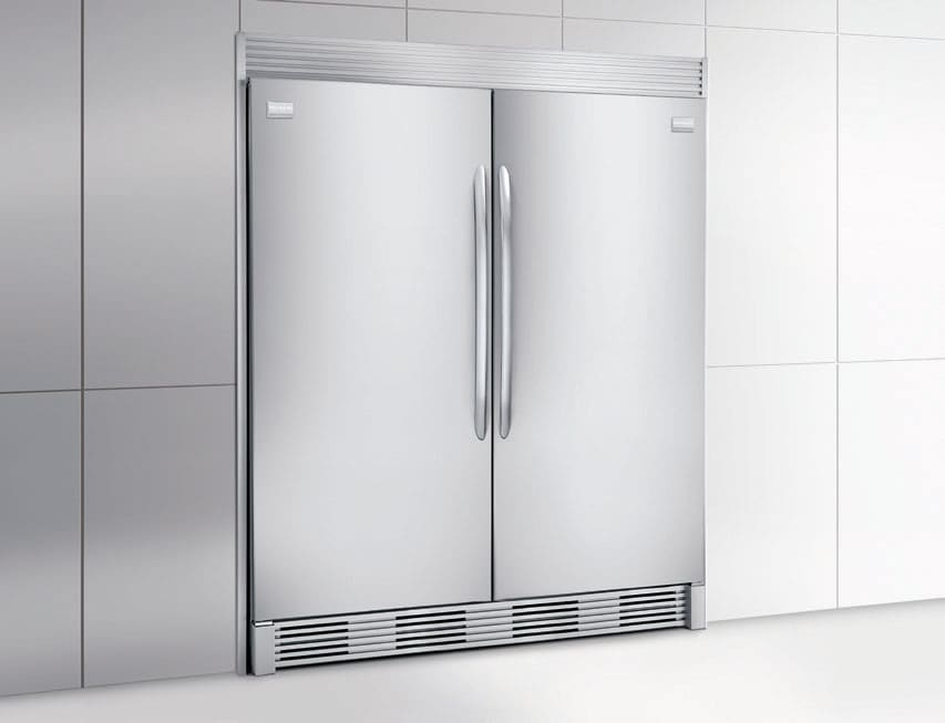 frigidaire gallery series fgfu19f6qf frigidaire 186 cu ft builtin all freezer