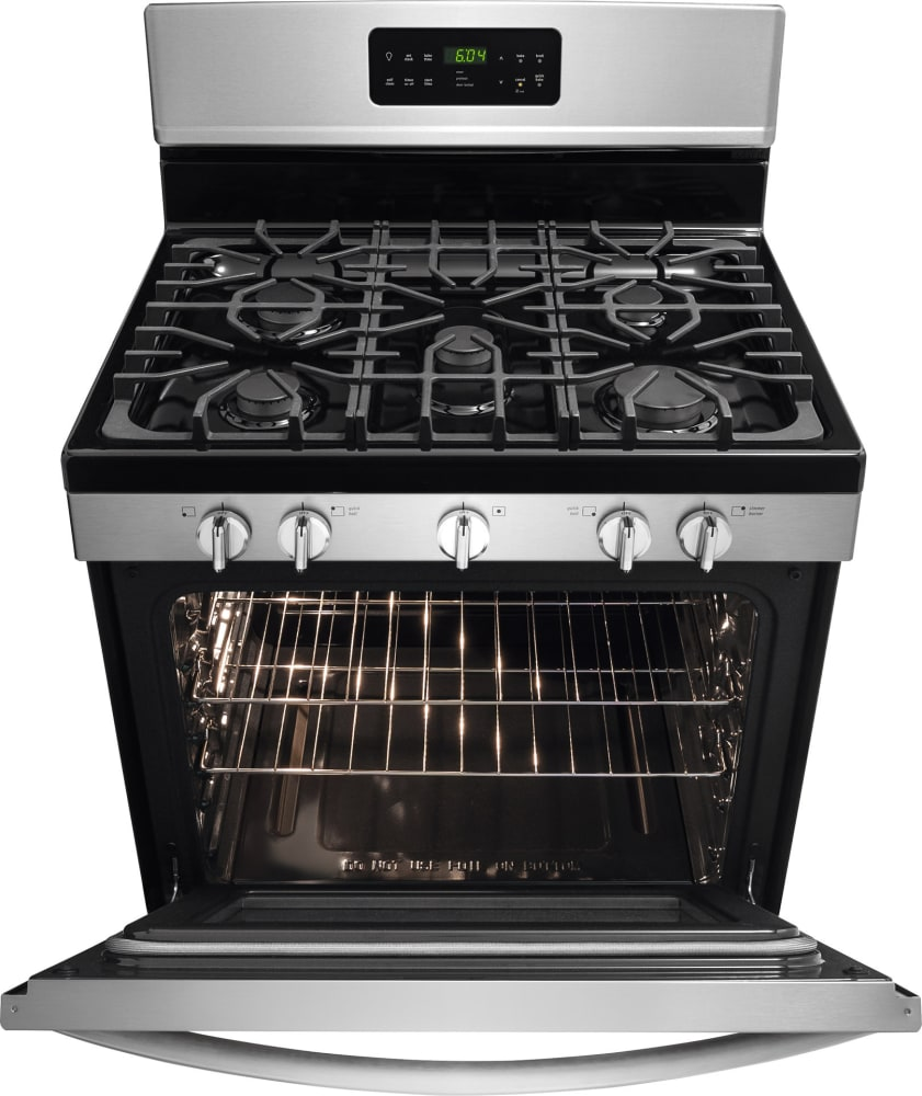 frigidaire gallery series fggf3035rf stainless steel open view
